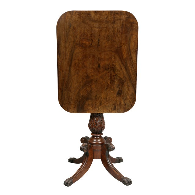 American Mahogany Tilt-Top Table For Sale
