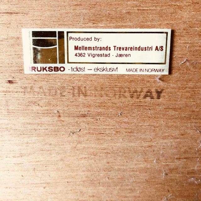 Bruksbo 1970s Vintage Norwegian Mid Century Modern Bruksbo Teak Cart For Sale - Image 4 of 5
