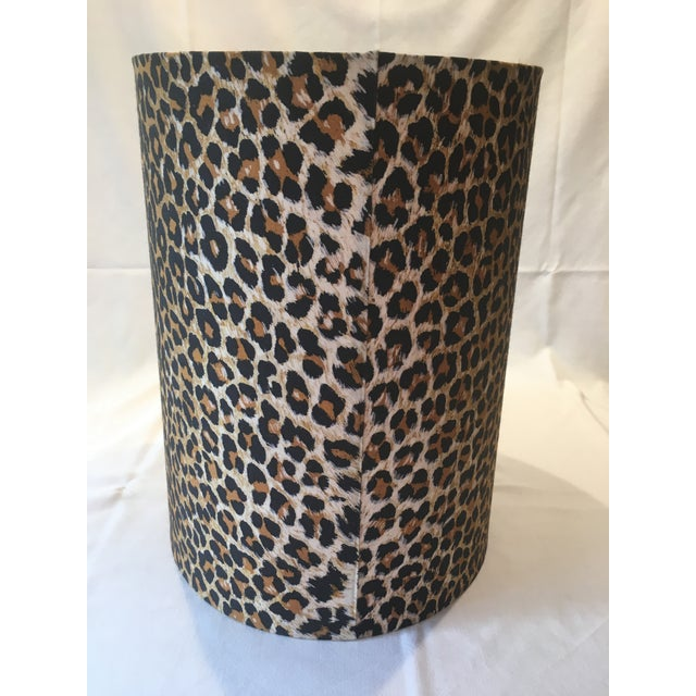 Leopard Fabric Lamp Shade - Image 5 of 7