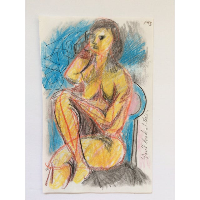 Figurative Don't Look at This Female Nude by James Bone 1990s For Sale - Image 3 of 3