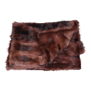 Upcycled Mink Throw For Sale