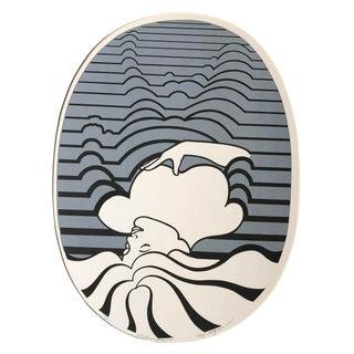 "1974 Figurative Silkscreen Roy Ahlgren - ""Metamorphosis"" For Sale"