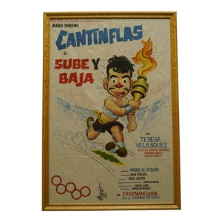 """1959 """"Sube Y Baja"""" Cantinflas Litho Poster For Sale"""
