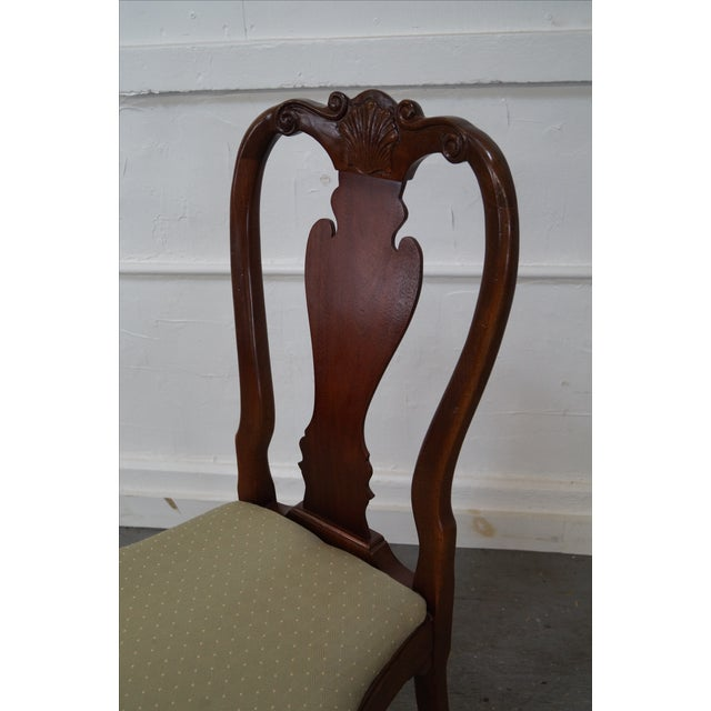 Walnut Georgian Queen Anne Dining Chairs - 6 - Image 8 of 10