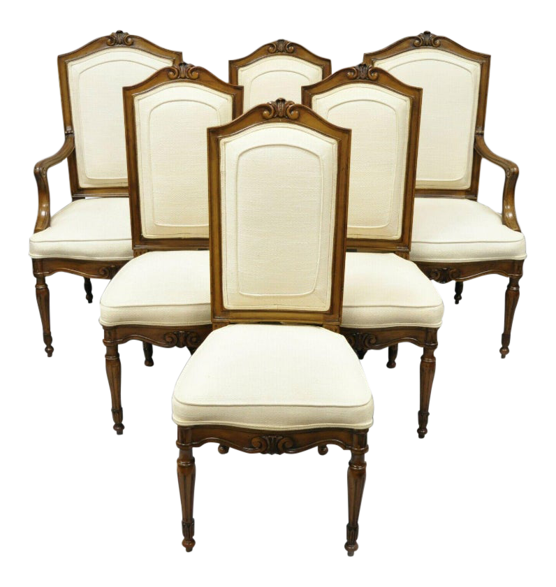 Vintage Mid Century John Widdicomb Italian Regency French Louis XVI Style  Dining Room Chairs  6 Pieces