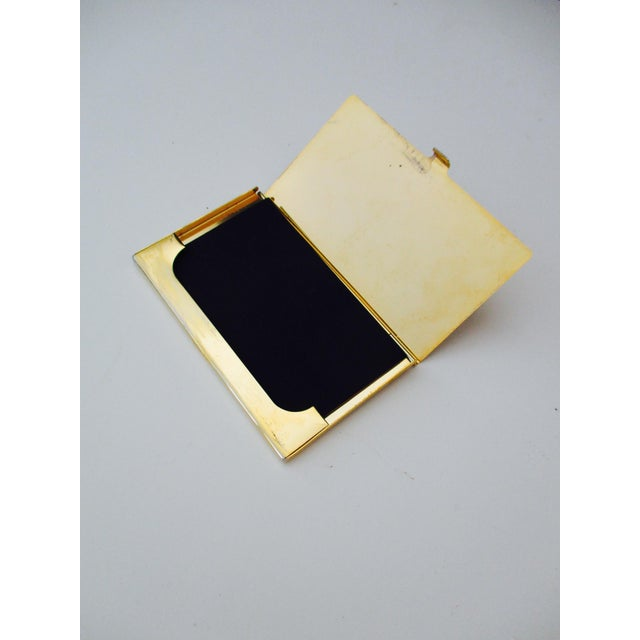 Harrods London Gold Compact Business Card Case - Image 5 of 8