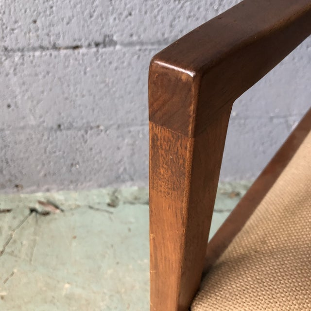 Brown Mid Century Modern Walnut Dining Armchairs- Set of 6 For Sale - Image 8 of 13