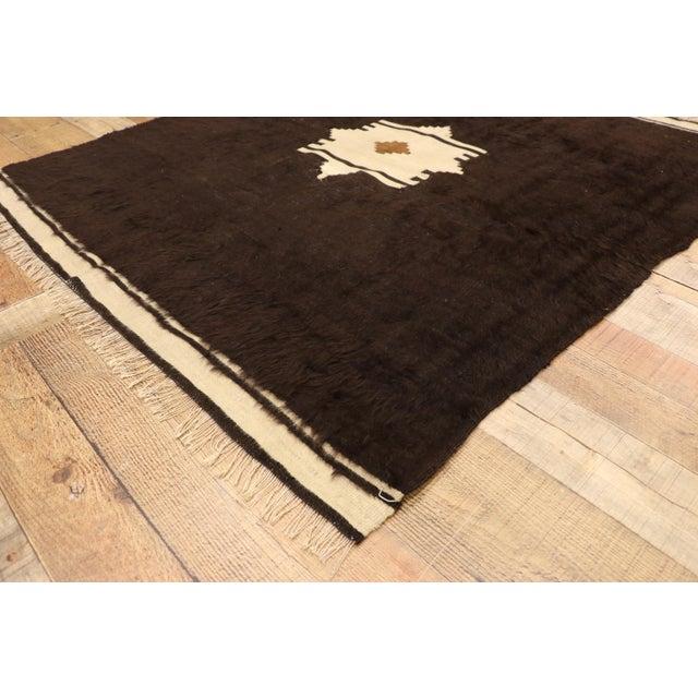 Mid 20th Century Vintage Turkish Angora Blanket Rug - 04'00 X 04'06 For Sale - Image 5 of 9