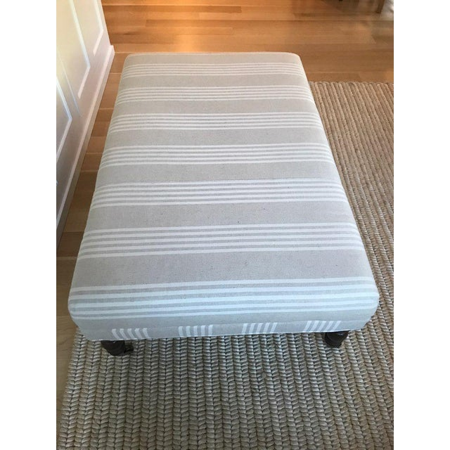 Miles Talbot Upholstered Ottoman For Sale In San Francisco - Image 6 of 6