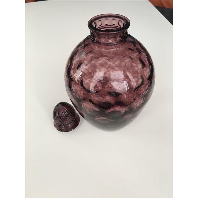 Amethyst Purple Mid-Century Lidded Vase - Image 5 of 6