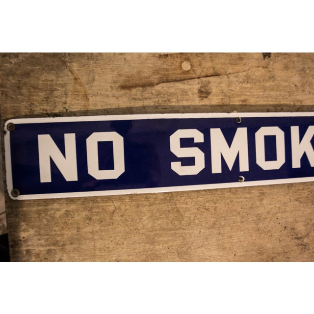 Vintage No Smoking Porcelain Sign - Image 3 of 6