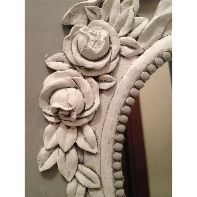 French Style Painted Shabby Chic Mirror - Image 4 of 6