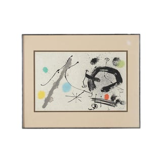 """Joan Miro """"Abstract"""" Original Lithograph, Signed For Sale"""
