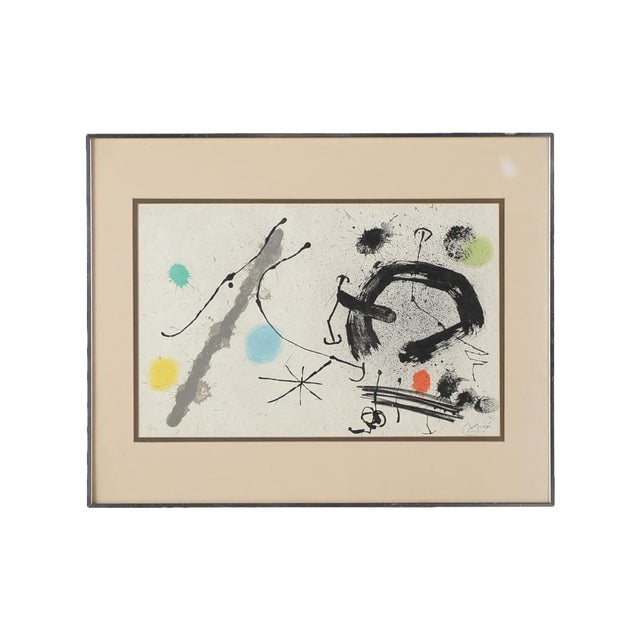 "Joan Miro ""Abstract"" Original Lithograph, Signed For Sale"