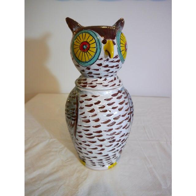 Ceramic Mid Century Italian Owl Cookie Jar For Sale - Image 7 of 7