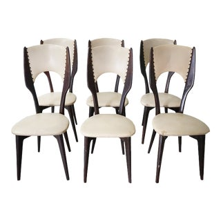Vintage Italian Dining Chair by Designer Gio Ponti, Sold as a Set For Sale