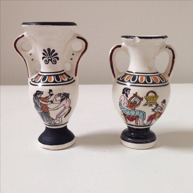 Small Greek Ceramic Vases - A Pair - Image 4 of 11