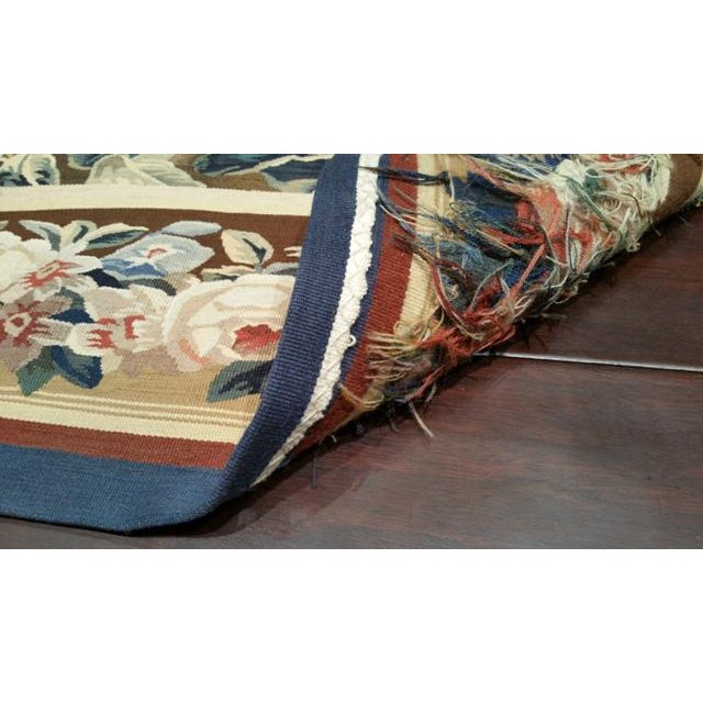 Silk & Wool Hand Woven Aubusson Tapestry - 7′ X 9′8″ - Size Cat. 6x9 7x10 - Image 3 of 3