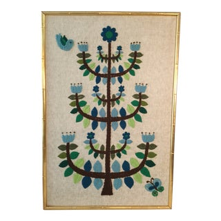 1970's Vintage Tree of Life Needlecraft For Sale