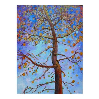 Ginko Tree in Blue- Extra Large For Sale