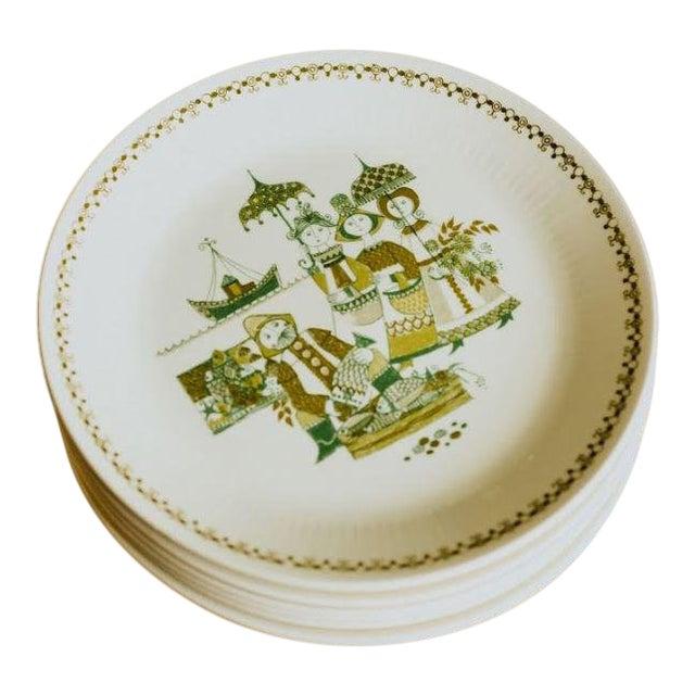 Turi-Design Norwegian Mid-Century Dinner Plates - Set of 8 For Sale