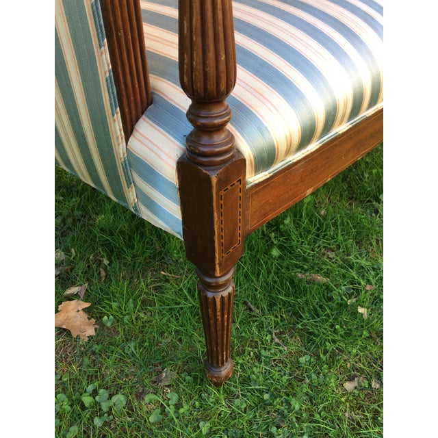 Traditional Antique Sheraton Style Loveseat - Image 11 of 11