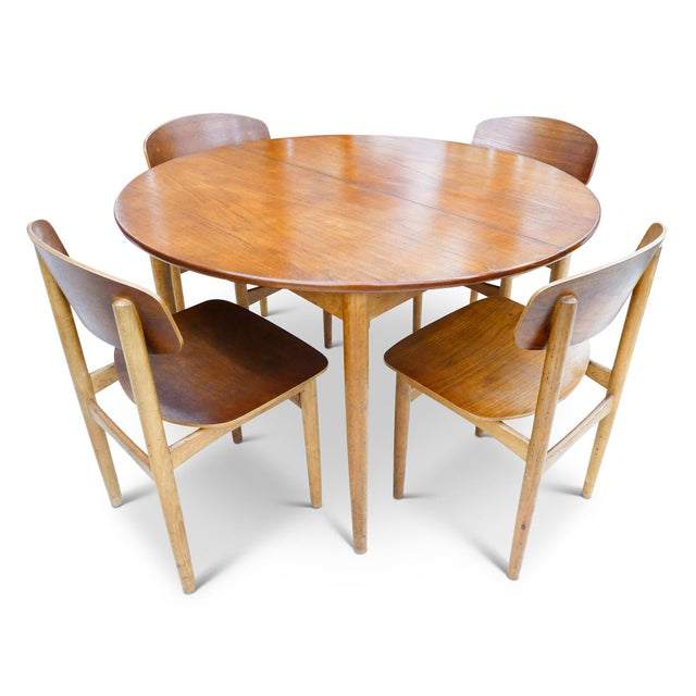 Vintage Børge Mogensen Dining Set for Soberg Mobelfabrik For Sale In San Francisco - Image 6 of 6