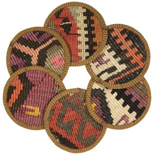 Kilim Coasters Set of 6 | Kaşıkçı For Sale
