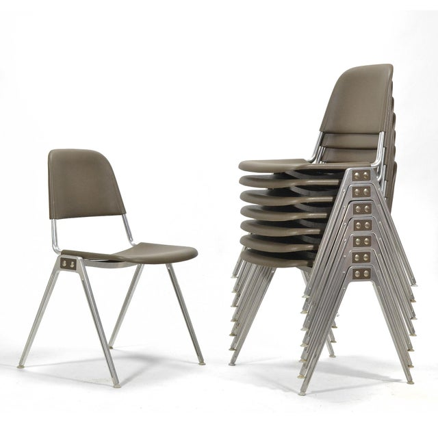 Don Albinson Stacking Side Chairs by Knoll Set of 14 For Sale - Image 10 of 11