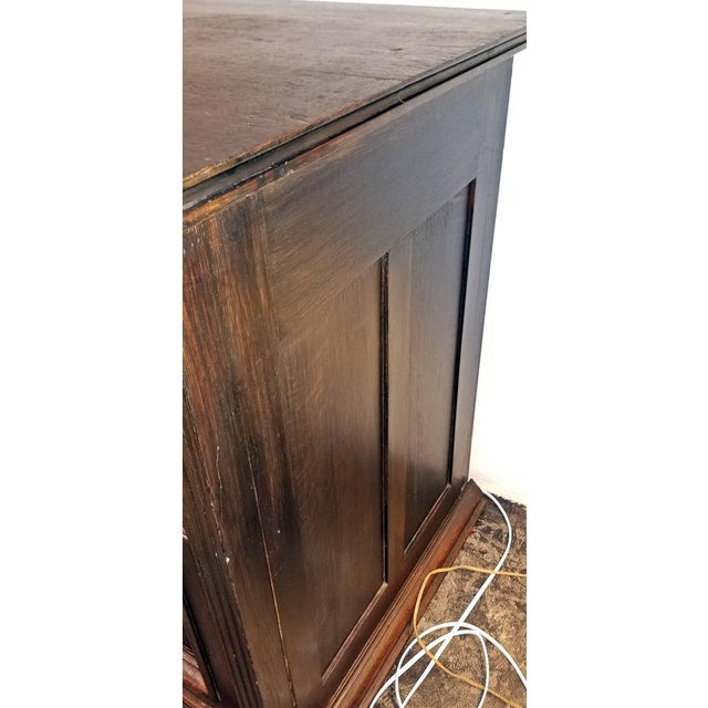 19th Century English Oak Cabinet For Sale In Dallas - Image 6 of 10