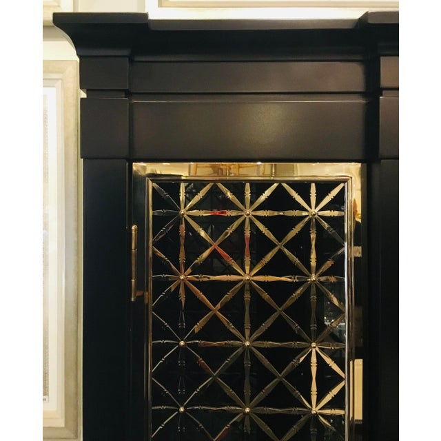 Modern Caracole Modern Black and Gold Display Cabinet For Sale - Image 3 of 10
