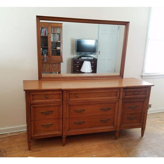 "Vintage mid-century Drexel ""Anniversary"" bedroom set in great condition. All drawers open and close smoothly. Dresser,..."