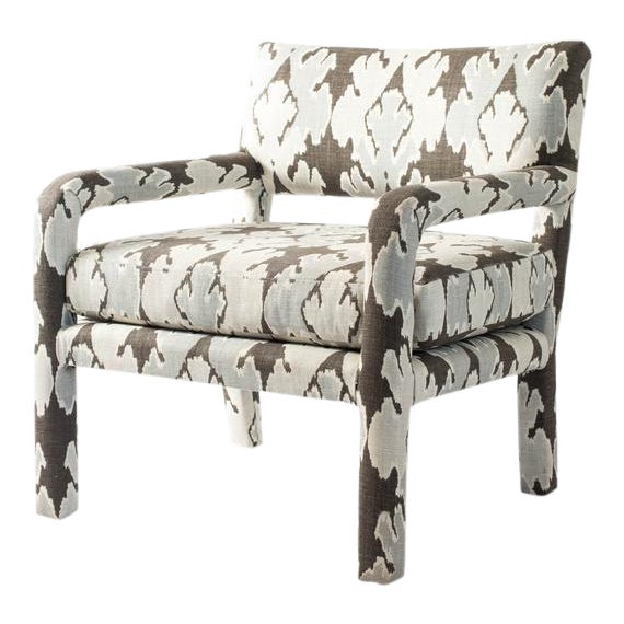 Vintage Upholstered Parsons Chair For Sale