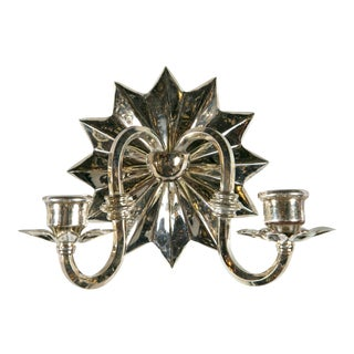 Caldwell Sconces With Starburst Backplate - a Pair For Sale