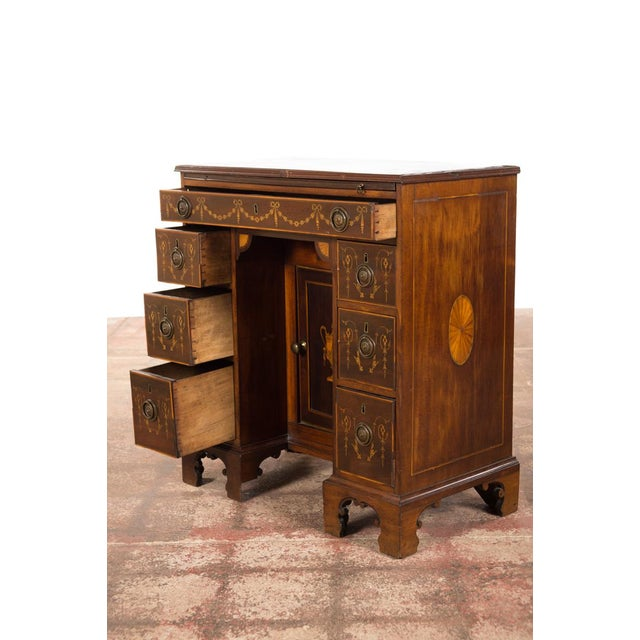 18th-Century Petite Georgian Inlaid Desk - Image 10 of 10