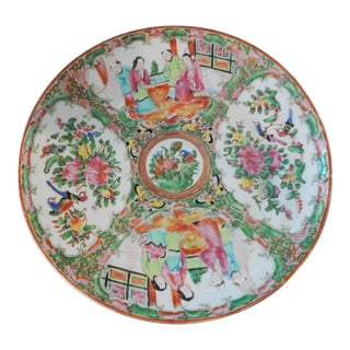 19th Chinese Export Porcelain Rose Medallion Plate For Sale