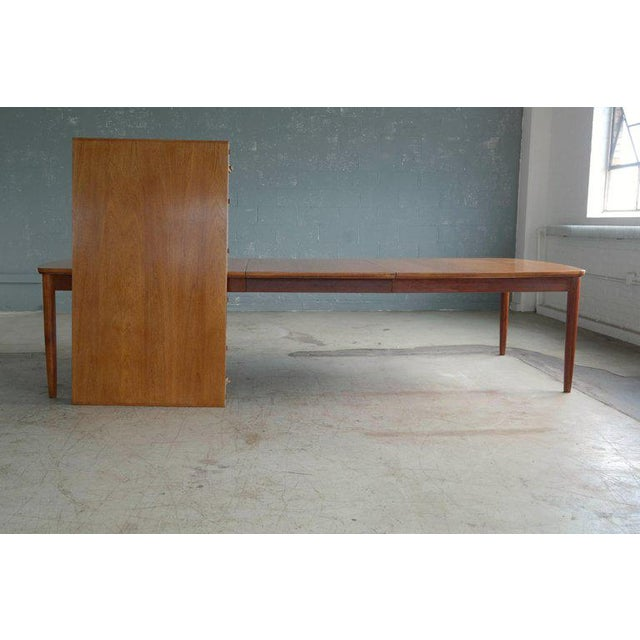 Fritz Hansen Attributed Large Conference or Dining Table Set Eight Chairs For Sale - Image 11 of 12