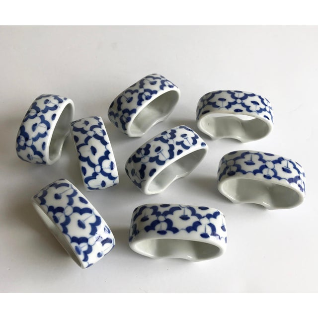 Ceramic Napkin Rings, Set of 8 For Sale - Image 4 of 4
