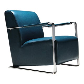 Pasargad Luxe Collection Faux Leather Armchair