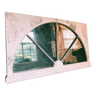 Vintage Hanging Window Pane Mirror For Sale