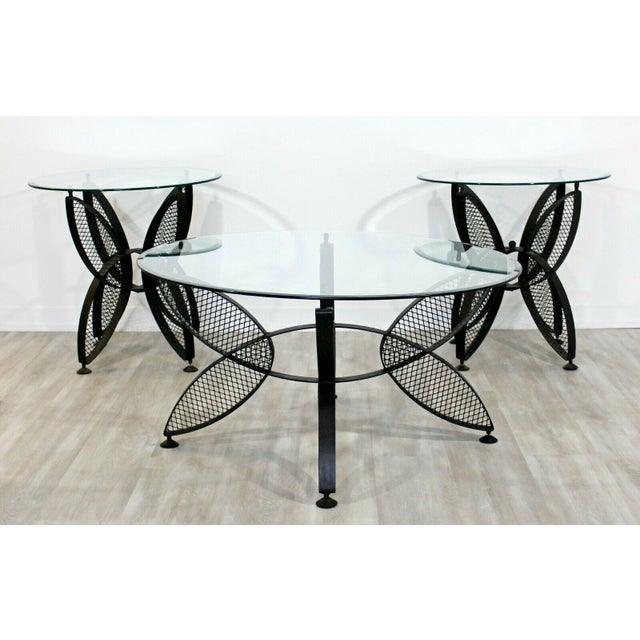 Mid Century Modern Tempestini Salterini Butterfly Patio Pair Side Tables 1960s For Sale - Image 10 of 12