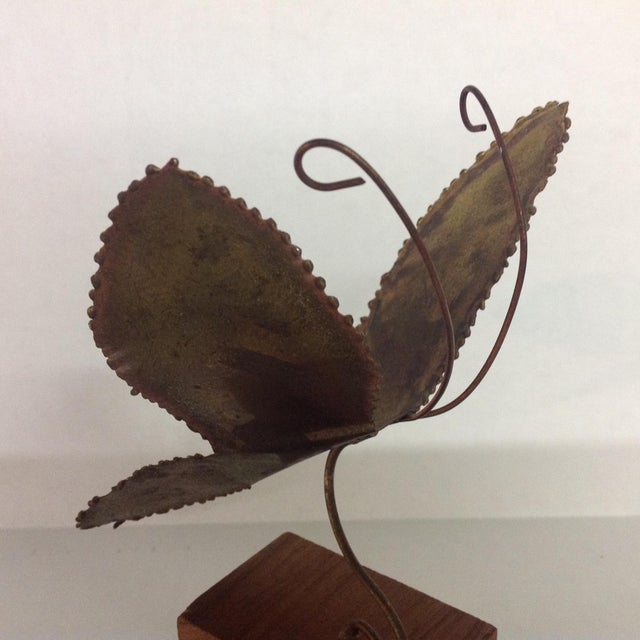 Brass Brutalist Butterfly Sculpture - Image 5 of 6