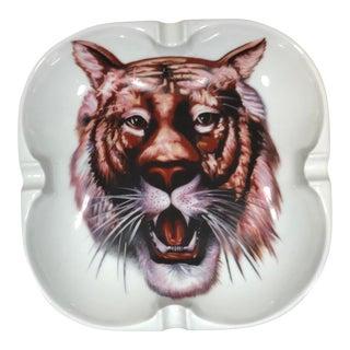 Vintage Georges Boyer Limoges Tiger Ashtray For Sale