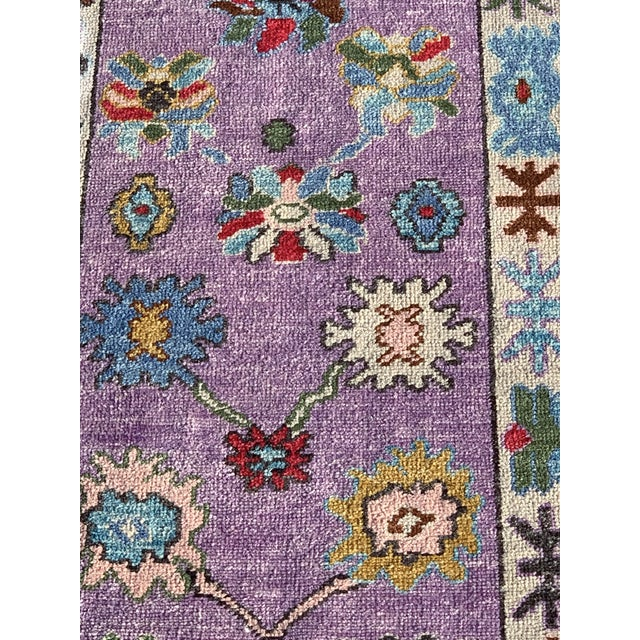 This is a newly made Oushak from Turkey. It's wool on wool.