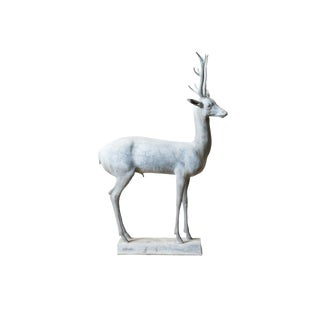1930s Antique Lead Deer Statue For Sale