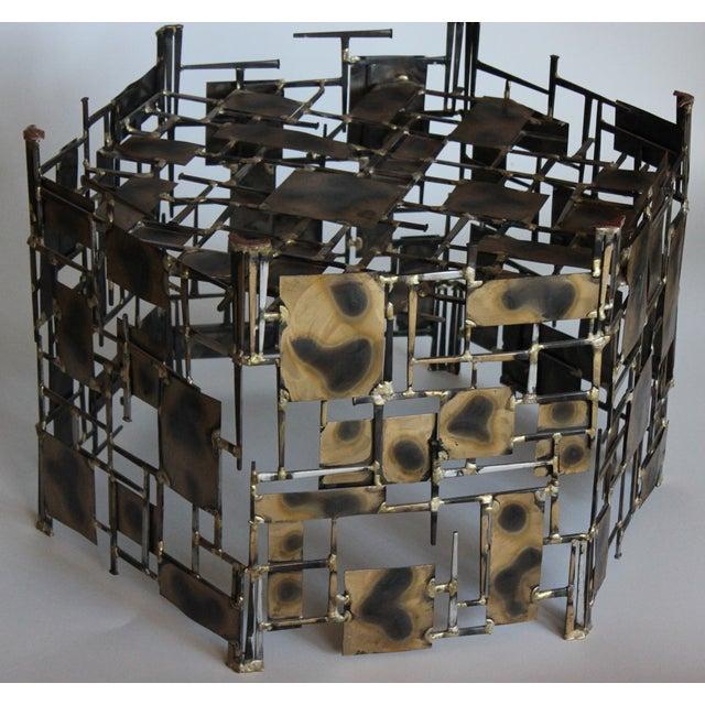 Marc Creates Vintage Brutalist Metal Coffee Table - Image 6 of 8
