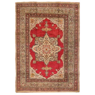 Antique Oversize Late 19th Century Persian Meshed Carpet For Sale