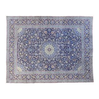 """Vintage Persian Kashan Rug - 9' x 12'9"""""""
