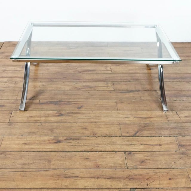 Chrome Z Gallerie Barcelona Coffee Table For Sale - Image 7 of 7
