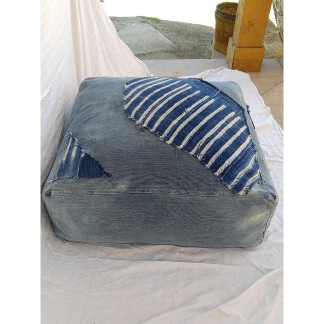 Indigo Floor Cushion Ottoman - Image 5 of 6